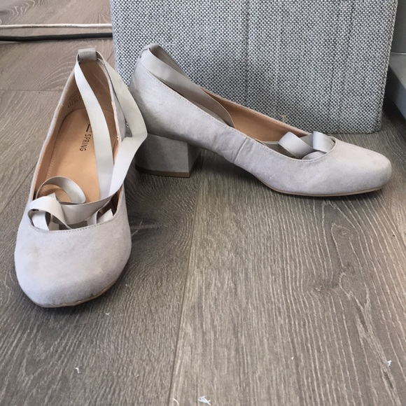 Call it spring grey small heels